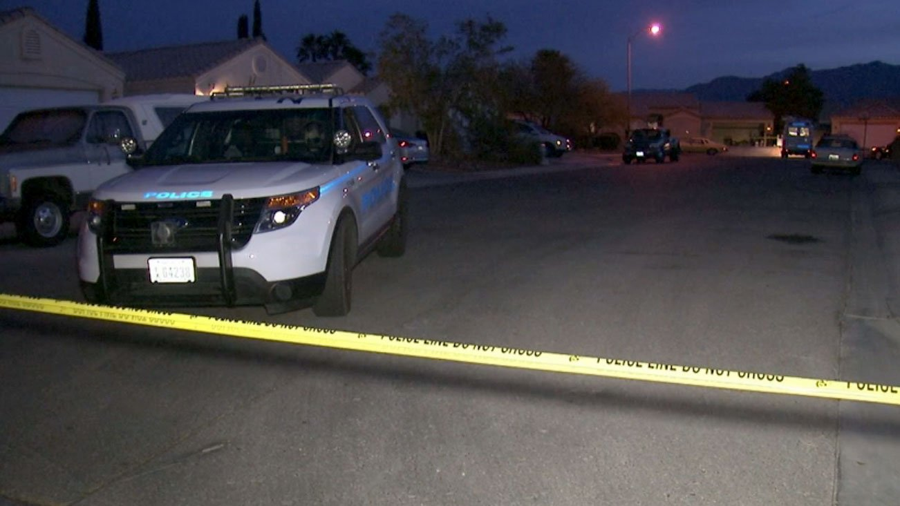 North Las Vegas police are investigating a deadly shooting on April 10, 2017. (Luis Marquez/FOX5)