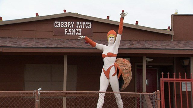 The abandoned Cherry Patch Ranch is the proposed site for a Raiders themed brothel coming soon. (Jason Westerhaus/FOX5)