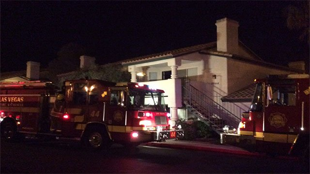 Kitchen fire started inside a northwest Las Vegas condo on April 14, 2017. (Las Vegas Fire & Rescue)