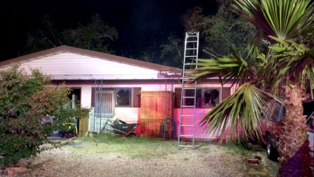 A fire damaged a Las Vegas home on April 17, 2017. (LVFR)