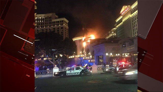 Crews responded to a fire at the Bellagio on April 13, 2017.
