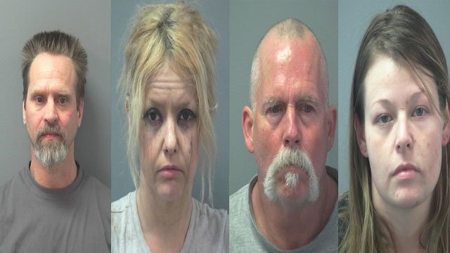 From left to right, David Adkins, Jessica Rose, Robert Gulick, and Lindsey Cadler. (MPD)