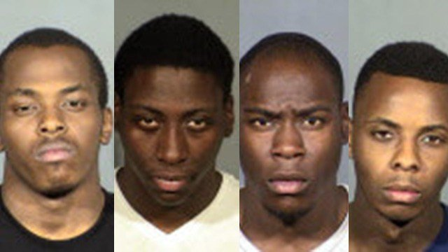 From left to right: Calvin Rambert, Donnell Talley, Rondall Talley, and Tylon Marshall. (Source: LVMPD)