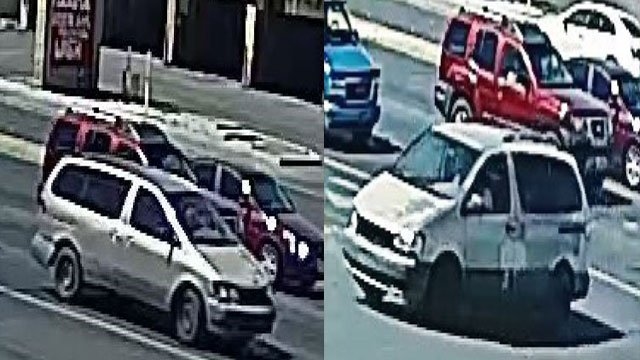 Police released surveillance images of the van Richi Briones was driving. (LVMPD)