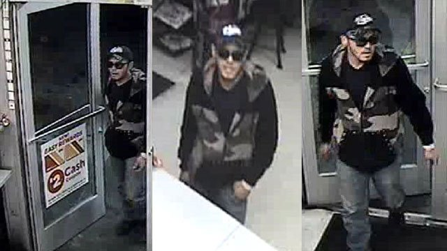 Police release pictures of a man suspected of robbing a business on April 6, 2017. (LVMPD)