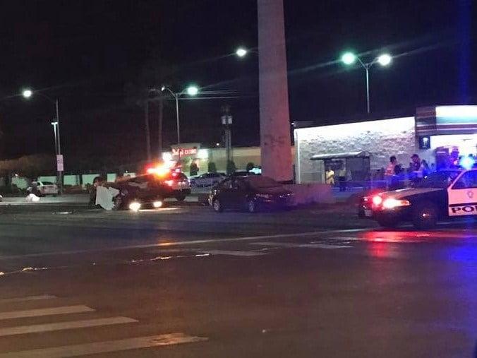 Police investigated a fatal crash on Vegas Drive and Decatur Boulevard on Apr. 20, 2017. (Source: Karla Nunez)
