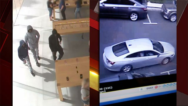 Police released surveillance images after three suspects were involved in thefts. (LVMPD)