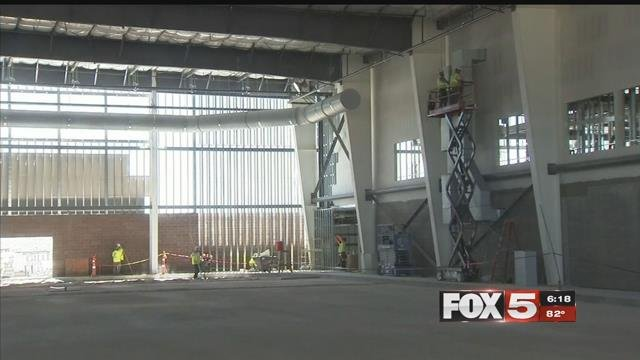 The Golden Knights' practice facility is ahead of schedule. (FOX5)