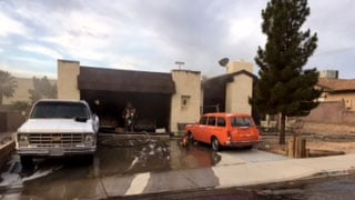 Firefighters extinguished a blaze at a home on April 24, 2017. (CCFD)
