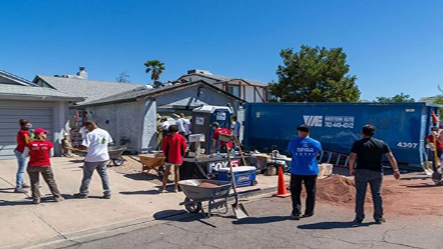 Volunteers assist Nevada homeowners with repairs for National Rebuilding Day on April 29, 2017. (Courtesy: RTSNV)