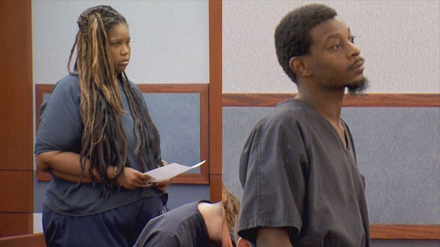 Paul Jones and Latoya Williams-Miley make an appearance in court on May 2, 2017. (Luis Marquez/FOX5)