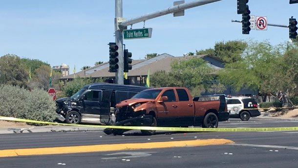 A pedestrian was critically injured in a crash on May 3, 2017. (Isaac Torres/FOX5)