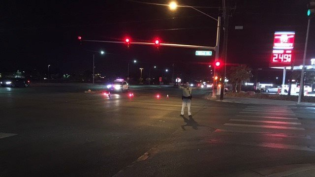 A bicyclist was killed in a crash on Vegas Drive and Decatur. (FOX5)
