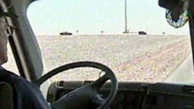 A motorist on a roadway in Nevada is shown in an undated image. (File)