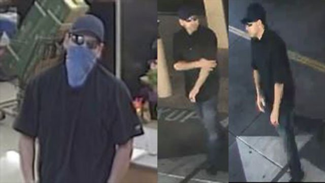 Police are searching for a robbery suspect who fled a stolen car. (LVMPD)
