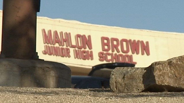 Police arrested a teacher in March 2017 in an indecency case at Mahlon Brown Junior High School. (FOX5)