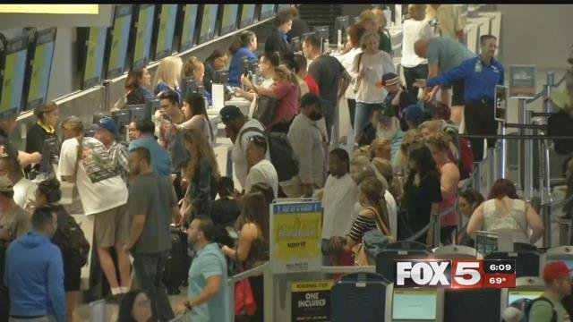 Frustration continued for Spirit Airlines customers Tuesday. (FOX5)