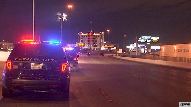 A pedestrian was hit and killed on I-15 near Sahara Avenue on May 9, 2017. (FOX5)