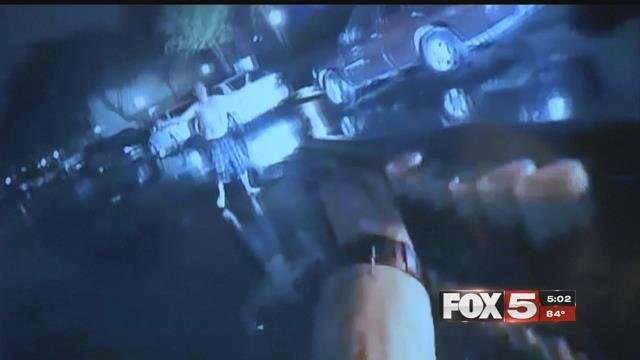 A body camera captured an officer-involved shooting in May, 2017. (LVMPD)
