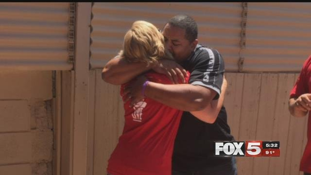 A Las Vegas veteran was given a new home by a local non-profit. (FOX5)