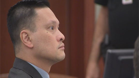 Dr. Binh Minh Chung in a courtroom during his trial in May of 2017. (FOX5)