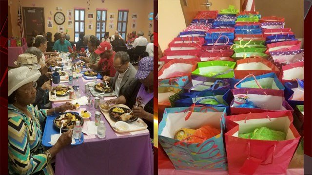 Mothers attending a brunch at the MLK Senior Center received gifts. (Erika Washington)