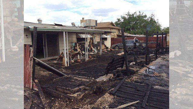 A man was badly burned in a fire near Alta and Torrey Pines on May 5, 2017. (LVFR)