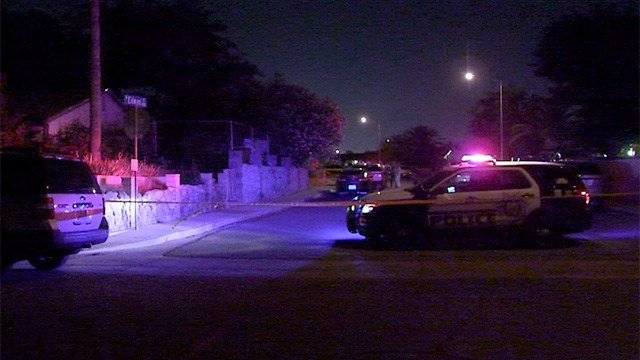 One person was shot and killed near Walnut and Craig roads Tuesday night. (Roger Bryner / FOX5)
