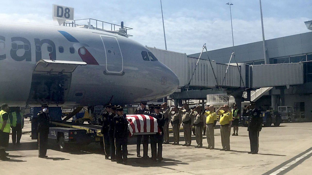 McCarran Airport received the remains of a soldier who went missing in action in 1950. (McCarran International Airport/Facebook)