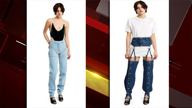 Detachable jeans and garter jeans sold created by Y/Project. (Opening Ceremony)