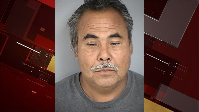 A booking photo of Agustin Ramirez-Rodriguez (NLVPD/FOX5).