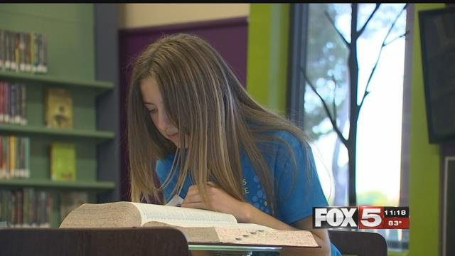 Maia Marshall is set to compete in the national spelling bee. (FOX5)