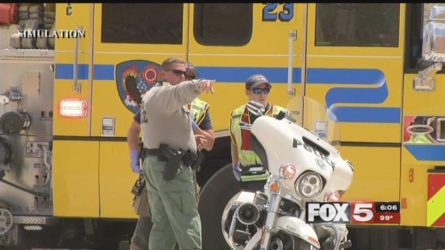 EMTs said they're prepared for the worst in Las Vegas. (Jason Westerhaus / FOX5)