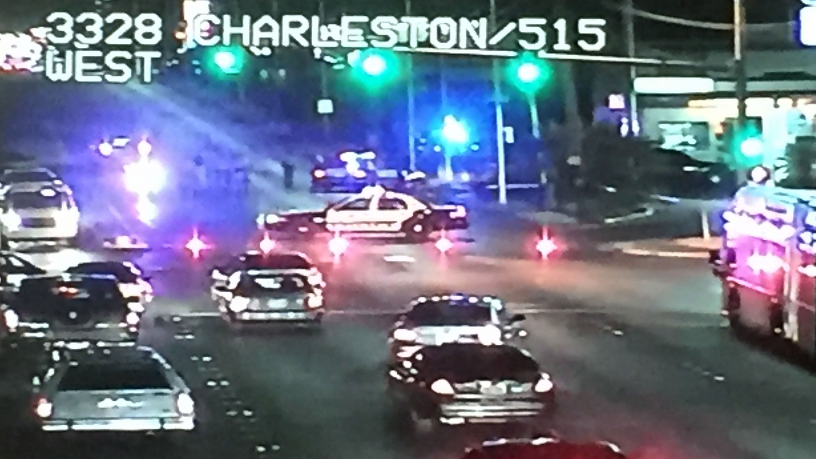 Police are investigating a crash at Charleston Boulevard and Honolulu Street on May 25, 2017. (LVACS)
