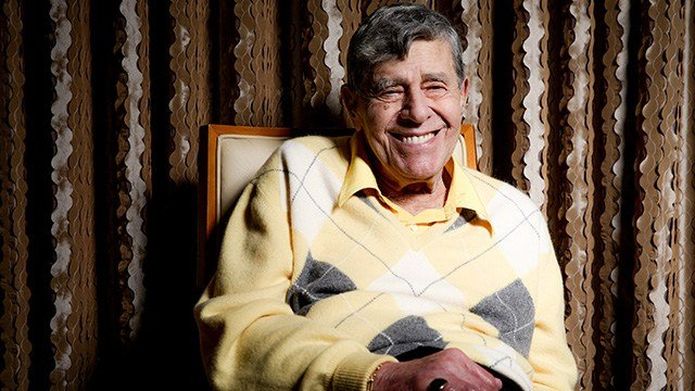 In this Aug. 24, 2016 photo, comedian Jerry Lewis reacts during an interview at the Four Seasons Hotel in Los Angeles. (Photo by Rich Fury/Invision/AP)