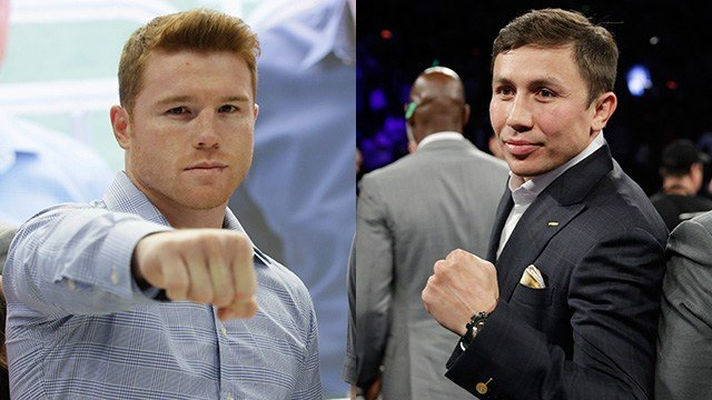 Left: Canelo Alvarez; Right: Gennady Golovkin (Left: AP Photo/LM Otero; Right: AP Photo/John Locher)
