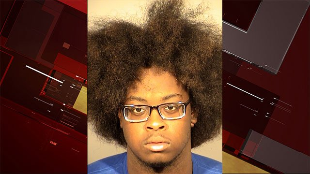 Rayshawn Strickland was arrested for carrying a concealed firearm after the gun discharged as police attempted to take him into custody at the Planet Hollywood Hotel and Casino June 6, 2017 (LVMPD/FOX5).