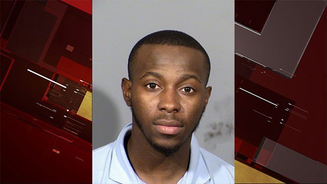 CCSD bus driver Domonique Joiner, 24, was arrested on multiple sexual misconduct charges on June 5, 2017 (LVMPD/ FOX5).