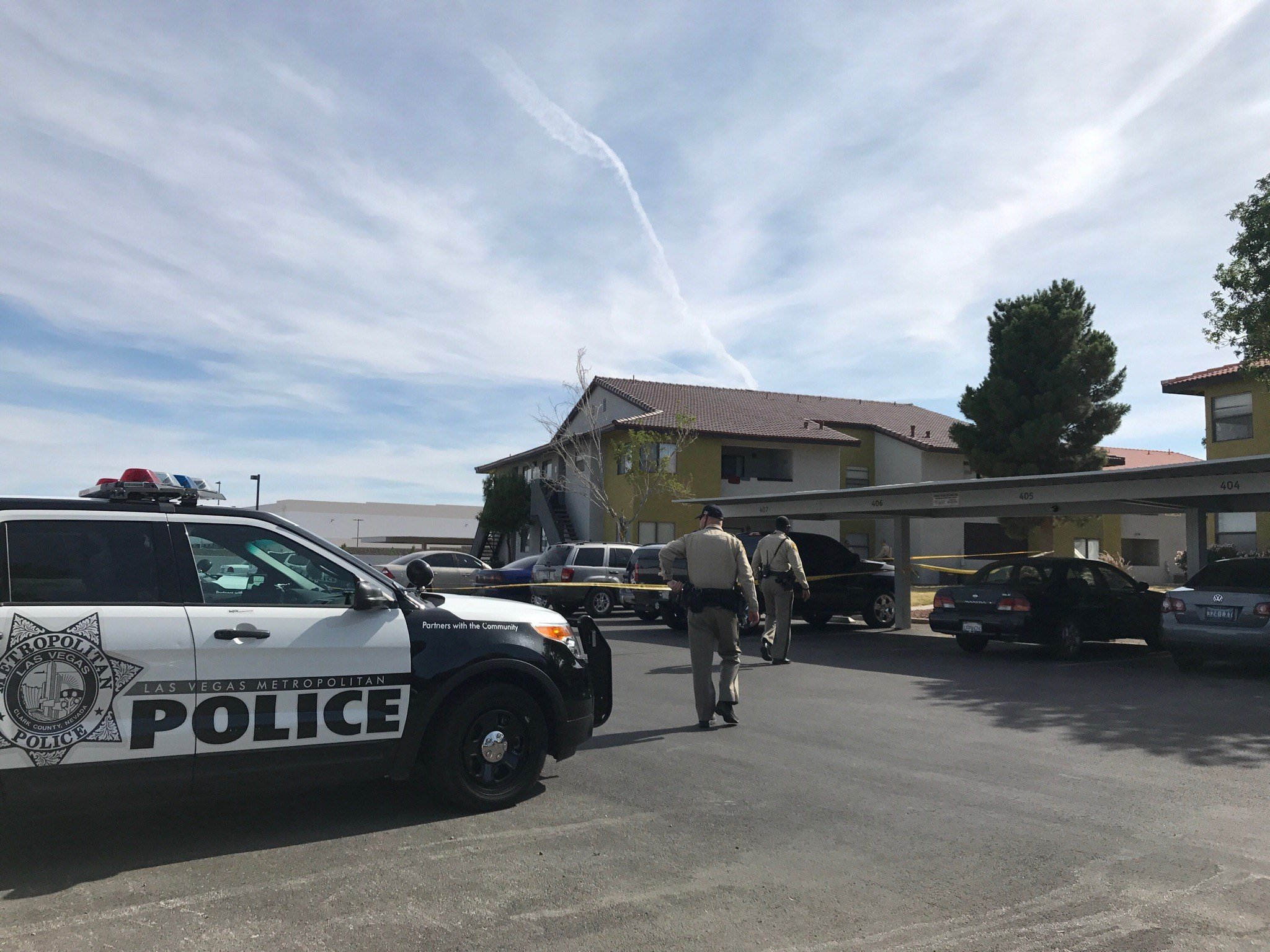 A child was found dead in a bathtub near Nellis and Cheyenne. (FOX5)