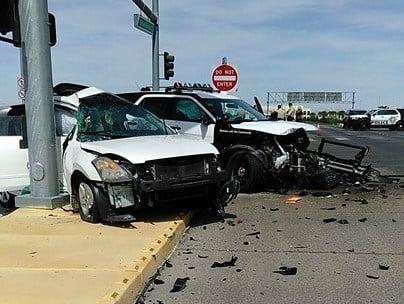 One person was injured in a crash involving a Metro squad car on June 6, 2017.