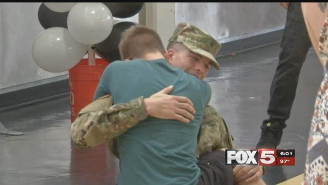 Brothers reunited at Clark High School on June 8, 2017. (FOX5)