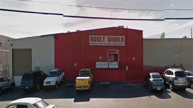 A worker at Adult World shot and killed a customer Friday night, according to police (Google Maps/FOX5).