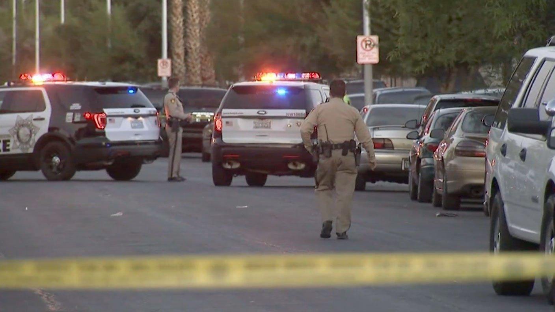 Police investigate a double homicide on June 13, 2017. (Luis Marquez/FOX5)