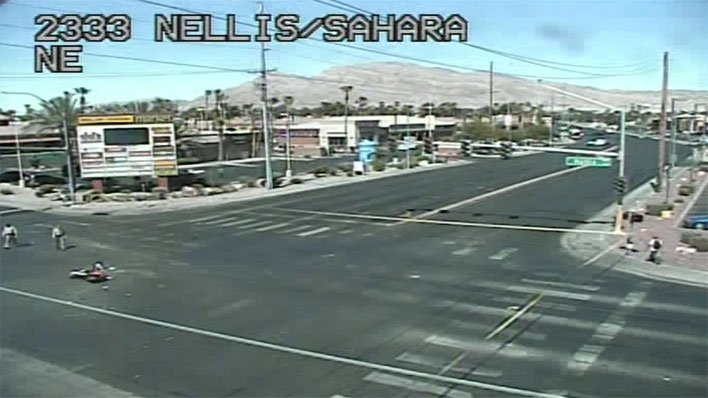 Metro police are investigating a crash at Nellis Boulevard and Sahara Avenue on June 14, 2017. (Source: LVACS)
