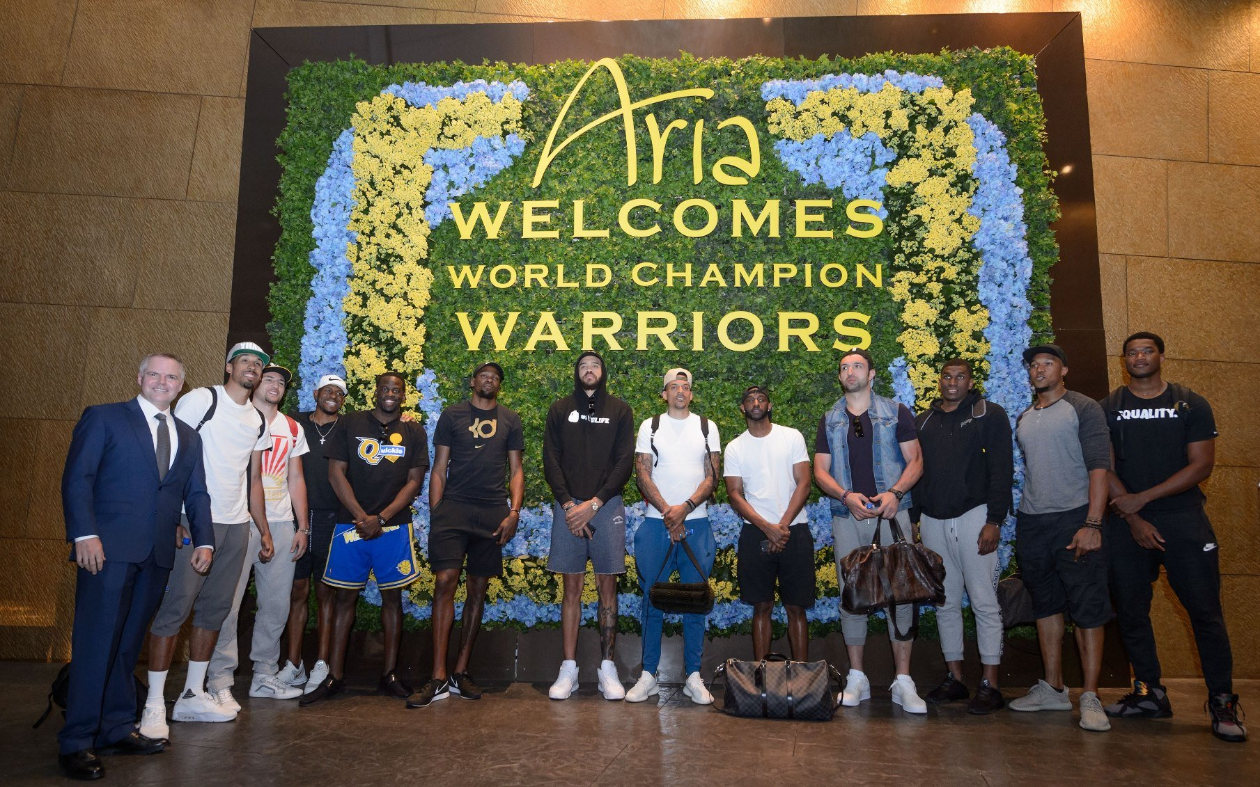 Members of the 2017 NBA champion Golden State Warriors came to Las Vegas to celebrate. (Photo Credit: Al Powers for Powers Imagery)