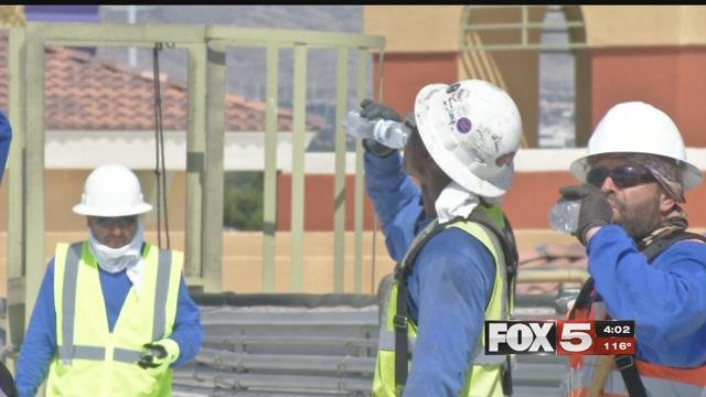 Roofers need to get the job done regardless of how hot it is. (FOX5)