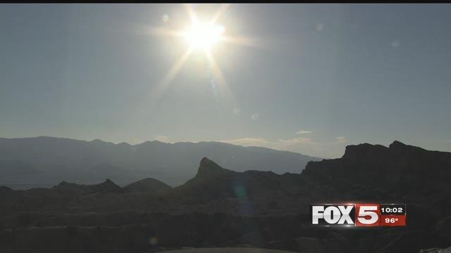 Death Valley reached 128 degrees Tuesday. (FOX5)
