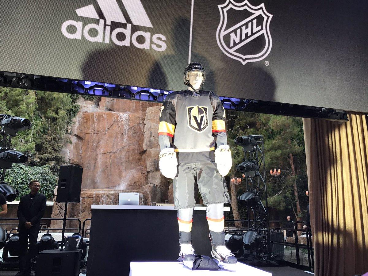 The Vegas Golden Knights unveiled its jerseys Tuesday. (Vince Sapienza / FOX5)