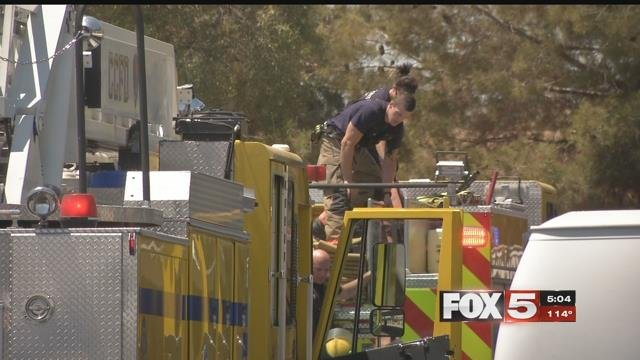 Valley firefighters have special protocol to follow in extreme heat. (FOX5)