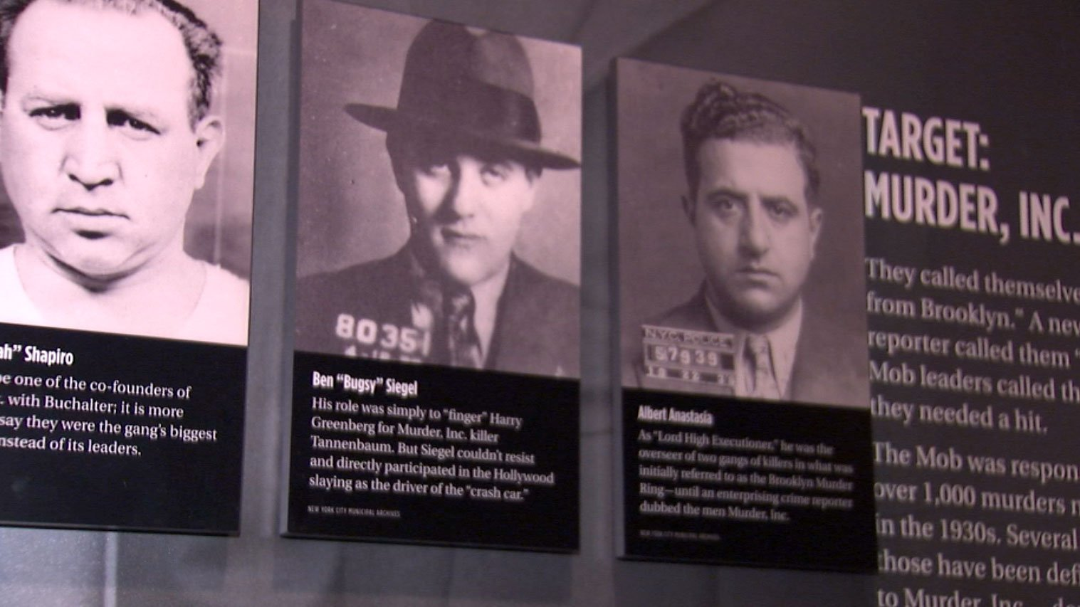 A picture of Bugsy Siegel is shown at a Las Vegas museum on June 20, 2017. (Adam Herbets/FOX5)